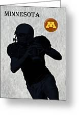 Minnesota Football Greeting Card by David Dehner
