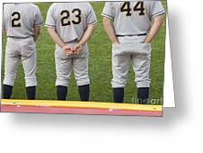 Minor League Baseball Players Greeting Card by Jim West