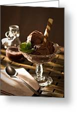 Mint Choc Chip Ice Cream Greeting Card by Amanda And Christopher Elwell