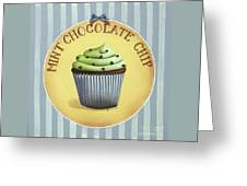 Mint Chocolate Chip Cupcake Greeting Card by Catherine Holman