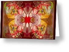 Miracles Can Happen Abstract Butterfly Artwork Greeting Card by Omaste Witkowski