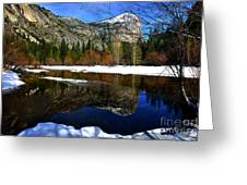 Mirror On The Lake Greeting Card by Peter Dang