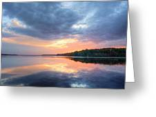 Mirrored Sunset Greeting Card by JC Findley