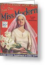 Miss Modern 1931 1930s Uk   Brides Greeting Card by The Advertising Archives