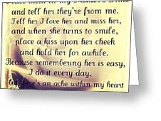 Missing You... So So Much.. #rip Greeting Card by E  Marrero