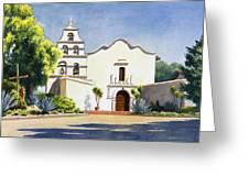 Mission San Diego De Alcala Greeting Card by Mary Helmreich