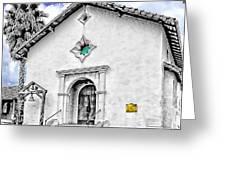 Mission San Rafael Arcangel Greeting Card by Ken Evans