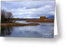 Missouri River Reflections Greeting Card by Kara Kincade