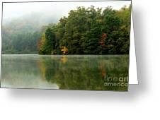 Mist On The  Lake Greeting Card by Thomas R Fletcher