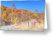 Misty Fall Morning In The Valley - North Georgia Greeting Card by Mark E Tisdale