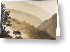 Misty Hills Greeting Card by Darice Machel McGuire