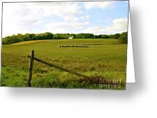 Misty Hills Farm Greeting Card by Addie Hocynec