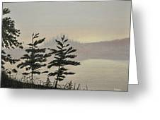 Misty Lake Greeting Card by Kenneth M  Kirsch