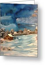 Misty Winter Greeting Card by Nick
