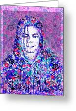 Mj Floral Version Greeting Card by MB Art factory
