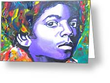 MJ Greeting Card by Jonathan Tyson