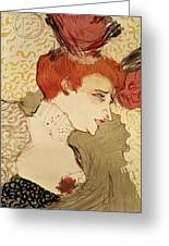 Mlle Marcelle Lender Greeting Card by Henri de Toulouse-Lautrec