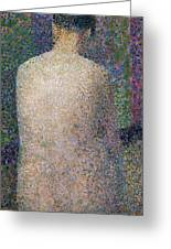 Model From The Back Greeting Card by Georges Pierre Seurat