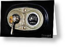 Model T Control Panel Greeting Card by Al Powell Photography USA