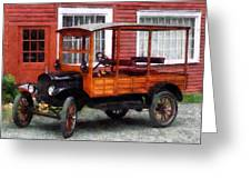 Model T Station Wagon Greeting Card by Susan Savad