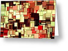 Modern Abstract Art Xvii Greeting Card by Lourry Legarde