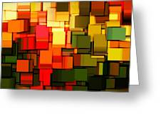 Modern Abstract I Greeting Card by Lourry Legarde