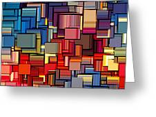 Modern Abstract Xii Greeting Card by Lourry Legarde