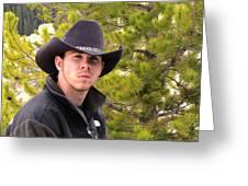 Modern Day Cowboy Greeting Card by Thomas Woolworth