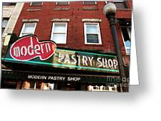 Modern Pastry Shop Greeting Card by John Rizzuto