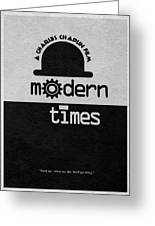 Modern Times Greeting Card by Ayse Deniz