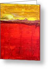 Mojave Dawn Original Painting Greeting Card by Sol Luckman