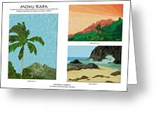 Moku Kapa Poster Greeting Card by Kenneth Grzesik