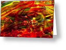 Molten Bubbles Greeting Card by David Patterson