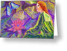 Moment Of Oneness Greeting Card by Jane Small