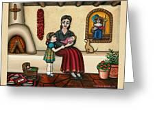 Momma Do You Love Me? Greeting Card by Victoria De Almeida