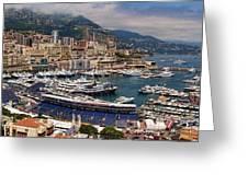 Monaco Panorama Greeting Card by David Smith