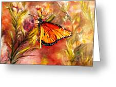 Monarch Beauty Greeting Card by Karen Kennedy Chatham