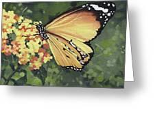 Monarch Butterfly Greeting Card by Natasha Denger