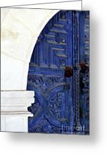 Monastery Door Greeting Card by John Rizzuto