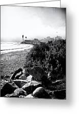 Mondos Shoreline Greeting Card by Ron Regalado