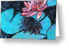 Monet's Lily Pond III Greeting Card by Xueling Zou