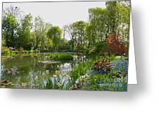 Monet's Water Garden At Giverny Greeting Card by Alex Cassels