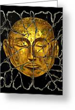 Monk In Meditation Greeting Card by Steve Bogdanoff