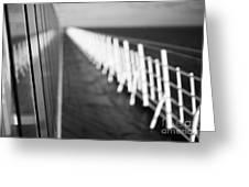 Monochrome Sun Deck Greeting Card by Anne Gilbert