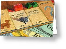 Monopoly On City Island Avenue Greeting Card by Marguerite Chadwick-Juner