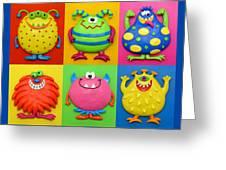 Monsters Greeting Card by Amy Vangsgard