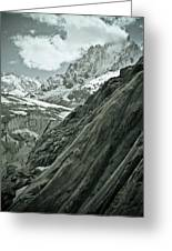 Mont Blanc Glacier Greeting Card by Frank Tschakert