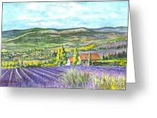 Montagne De Lure En Provence Greeting Card by Carol Wisniewski