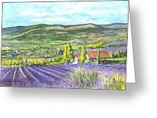 Montagne De Lure In Provence France Greeting Card by Carol Wisniewski
