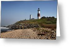 Montauk Lighthouse Greeting Card by Alida Thorpe